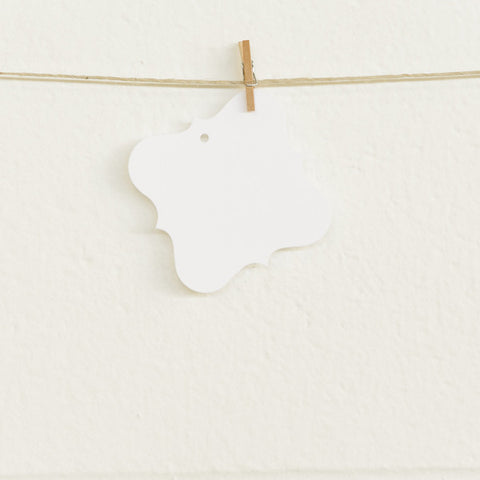Flourish Tags, White, 20pk