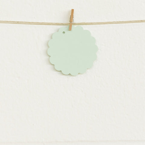 Scalloped Tags, Mint, 20pk