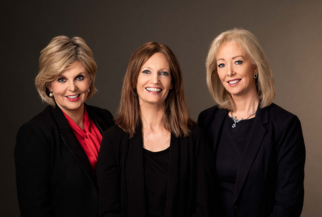 Photo of Marguerite Kiely, Noeleen Devlin and Cindy O'Connor of Athena Training Workshops