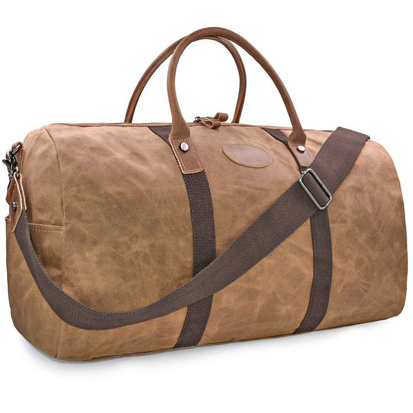 Gym Duffle Bag Men's Sturdy Canvas for Workout, Sports, Fitness
