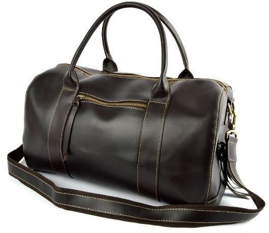 Leather Weekend Bag, Mens Travel Essential Duffle