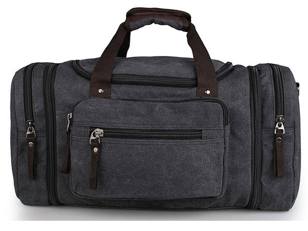 Cotton Canvas Stylish Duffle Gym Vacation Bag