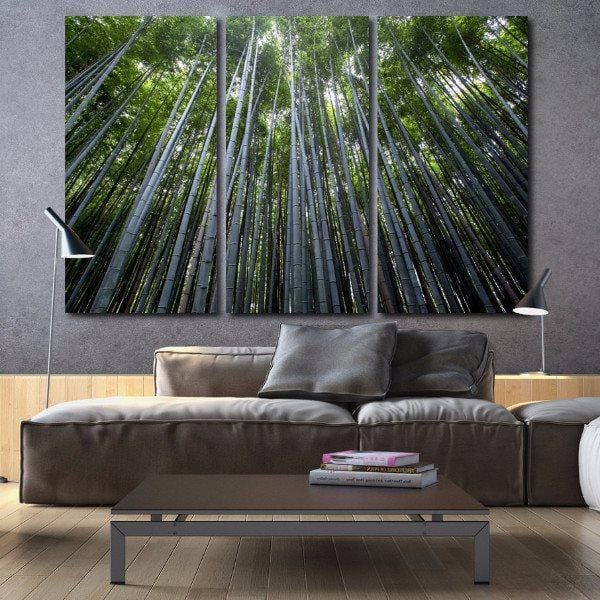 Bamboo Trees on Canvas - Canvas Wall Art - HolyCowCanvas