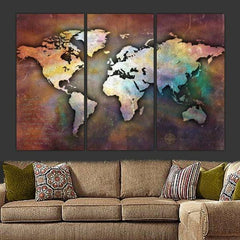 Large Canvas World Collage Map Wall Art - Canvas Wall Art - HolyCowCanvas