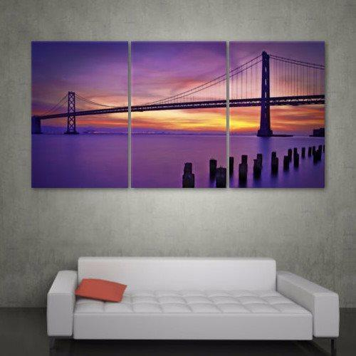 San Francisco Bay Bridge Sunset Canvas Wall Art - Canvas Wall Art - HolyCowCanvas