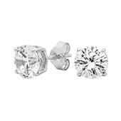 Georgini Sterling Silver 6mm CZ Studs E206W