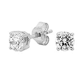Georgini 8mm Sterling Silver CZ Studs E122