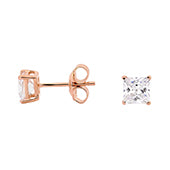 Georgini 5mm Rose Tone Sterling Silver CZ Studs