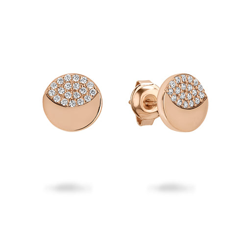 Georgini 'Slate' Rose Tone 8mm Studs E752RG