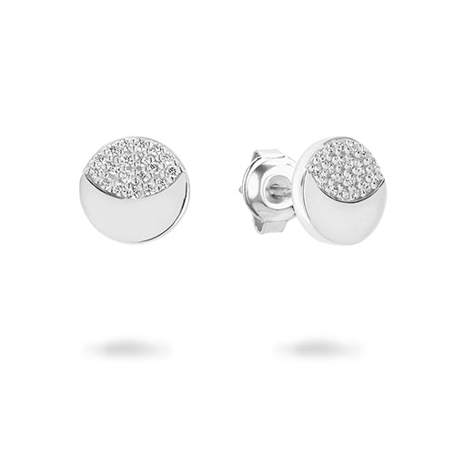 Georgini 'Slate' Sterling Silver 8mm Studs E752W