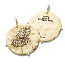 Sterling Silver Brass 'Poppies' Palas Charm 4162