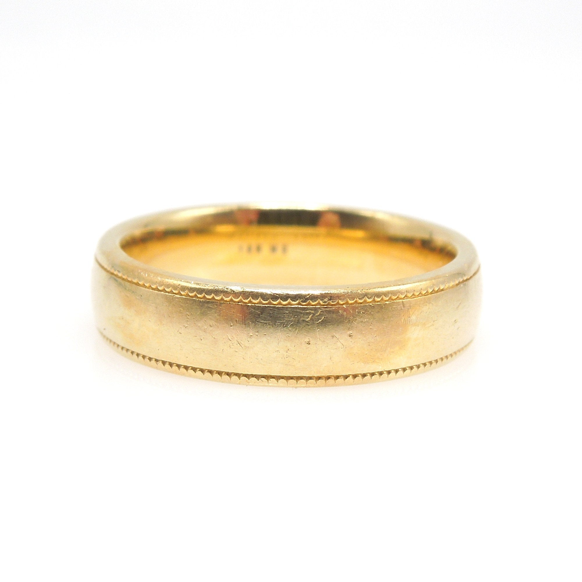 5mm Wide 18K Yellow Gold Comfort Fit Wedding Band
