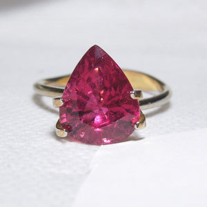 6.37 ct Pear Shaped Red Tourmaline (Rubellite)