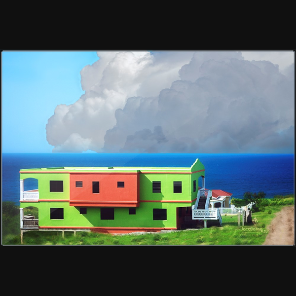 Watermelon House - art photograph metal print wall art
