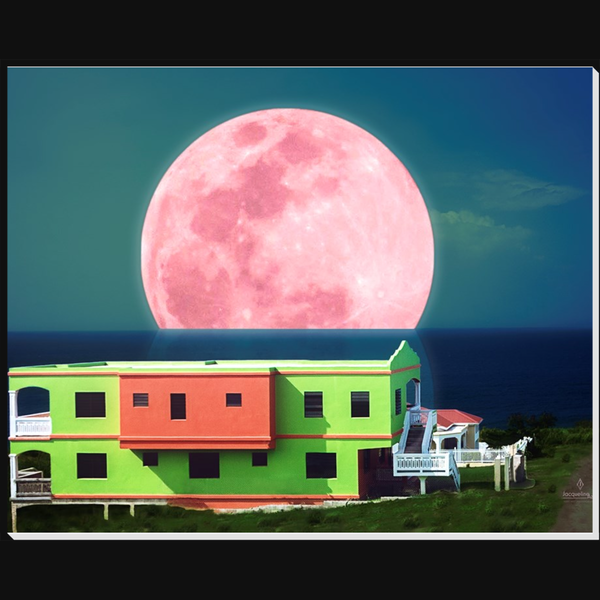 Watermelon Moon (composition) 8x10 - art photograph under acrylic wall art