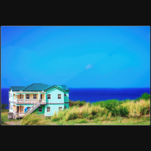 Spearmint House - Art photograph on metal print wall art