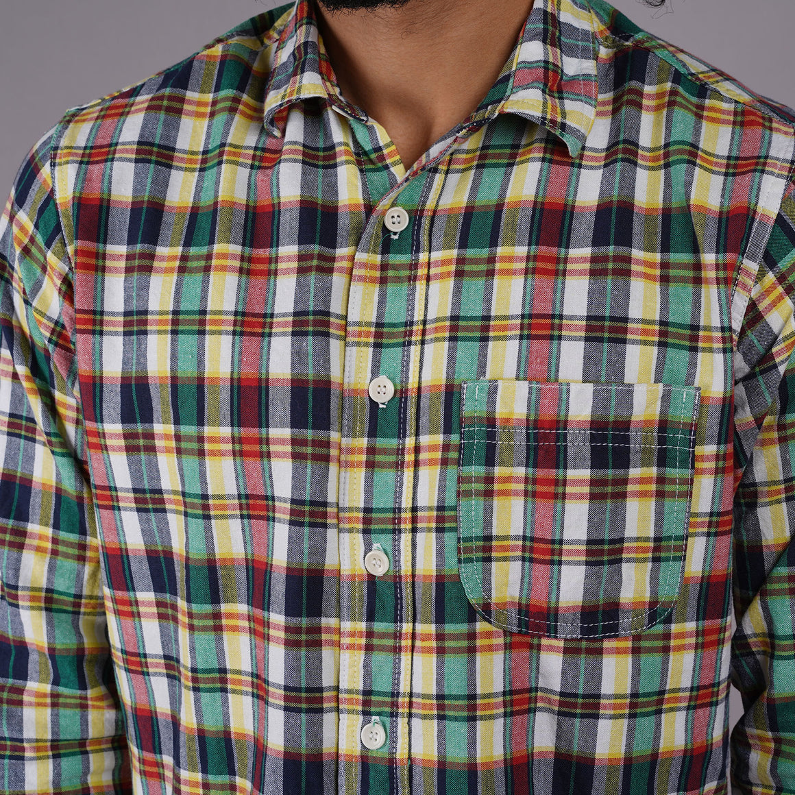 Chainstitch Shirt Mint Julep Madras