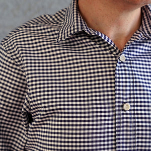 Chainstitch Shirt Thomas Mason Oxford Navy Gingham
