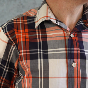 Chainstitch Shirt Thomas Mason Poplin Orange Crush