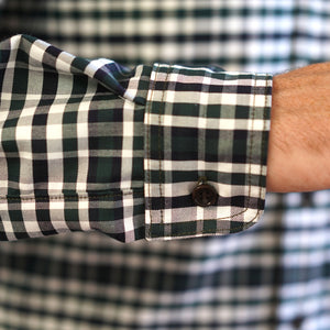 Chainstitch Shirt Thomas Mason Oxford Racing Green Tartan