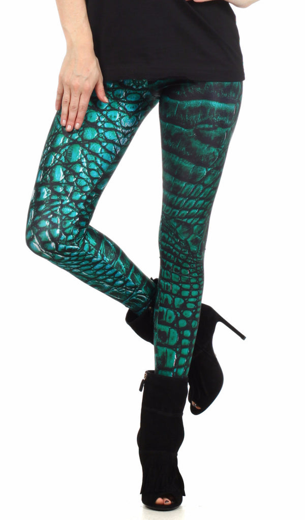 Green Dragon Skin Leggings - POPRAGEOUS  - 1