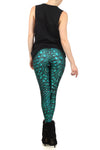 Green Dragon Skin Leggings - POPRAGEOUS  - 4