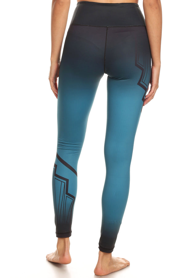 Art Deco Teal NFS Legging