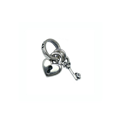 TINY HEART LOCK & KEY CHARM