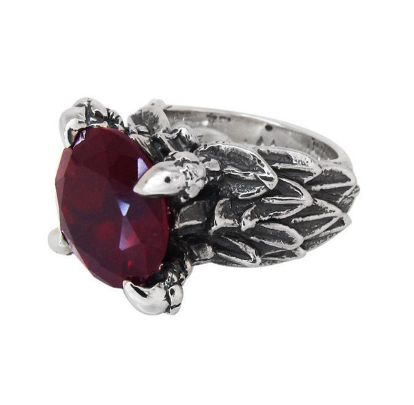 FEATHERED CLAW RING w/ CZ
