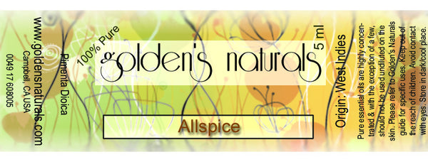Allspice Essential Oil, Essential Oils, Golden's Naturals - Golden's Naturals = quality essential oils at affordable prices