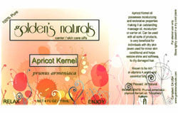 Apricot Kernel Oil, Carrier Oil, Golden's Naturals - Golden's Naturals = quality essential oils at affordable prices