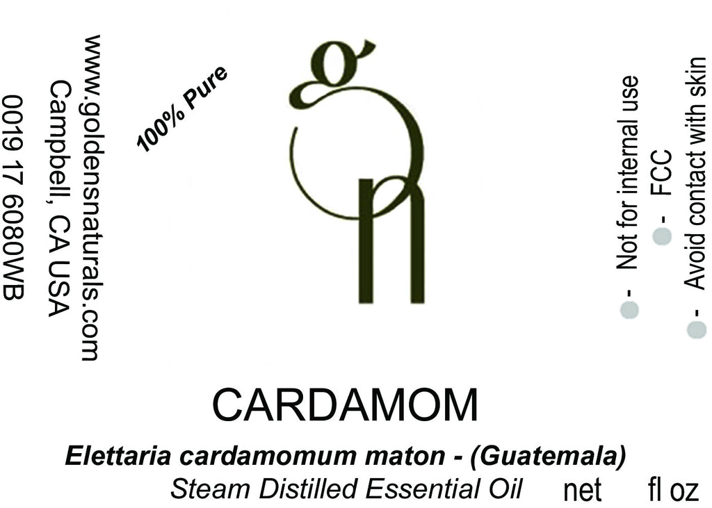 Cardamom Essential Oil - Wholesale/Bulk, Essential Oils, Golden's Naturals - Golden's Naturals = quality essential oils at affordable prices