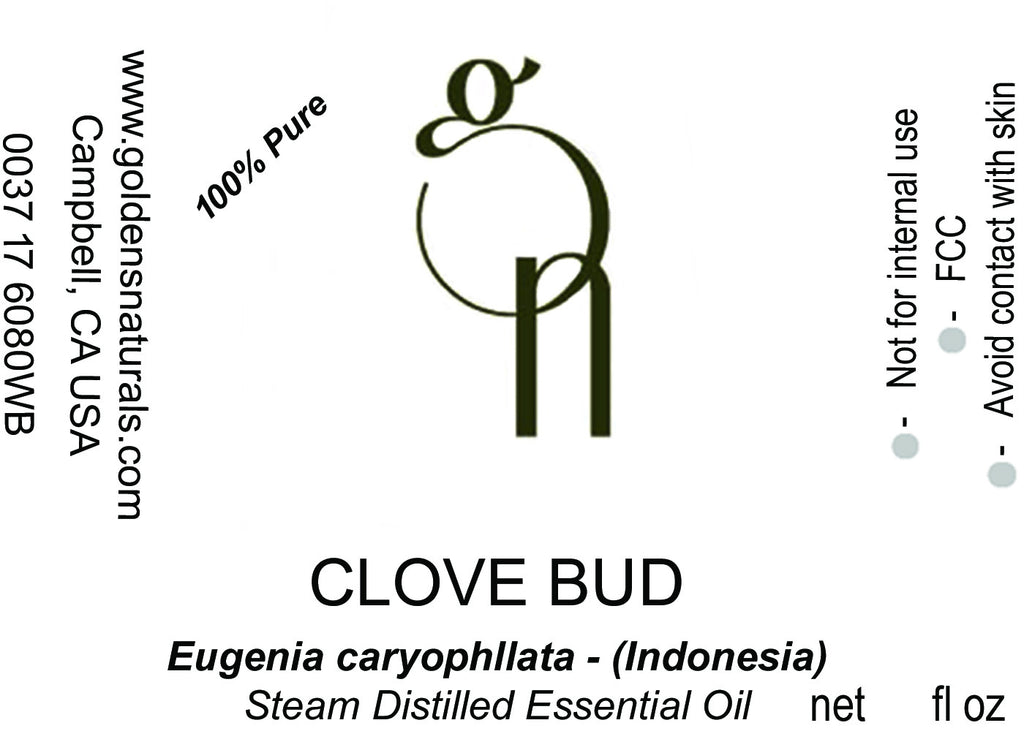 Clove Bud Essential Oil - Wholesale/Bulk, Essential Oils, Golden's Naturals - Golden's Naturals = quality essential oils at affordable prices