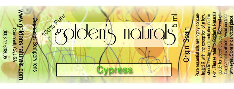 Cypress Essential Oil, Essential Oils, Golden's Naturals - Golden's Naturals = quality essential oils at affordable prices