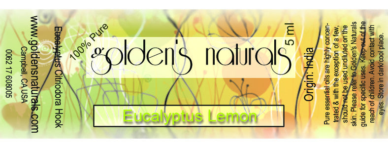 Eucalyptus Lemon Essential Oil, Essential Oils, Golden's Naturals - Golden's Naturals = quality essential oils at affordable prices