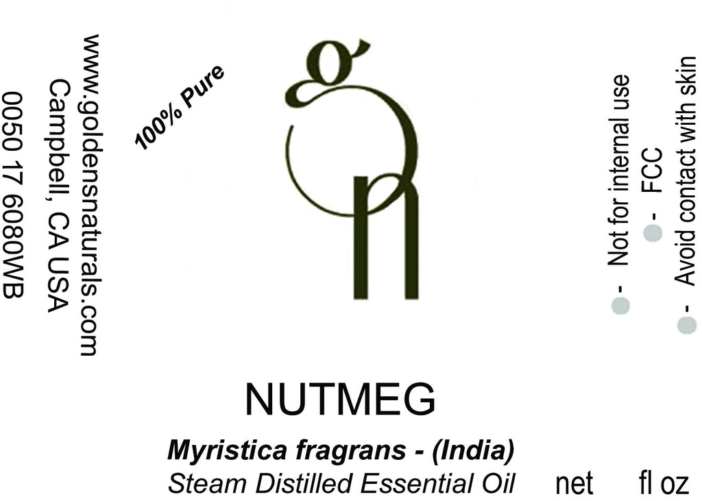 Nutmeg Essential Oil - Wholesale/Bulk, Essential Oils, Golden's Naturals - Golden's Naturals = quality essential oils at affordable prices