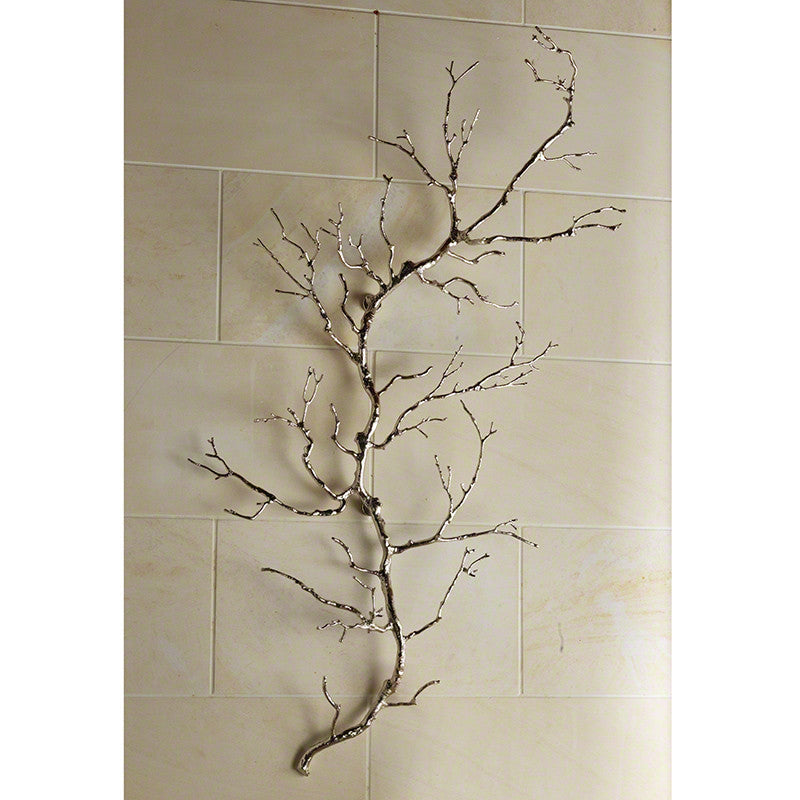 Twig Wall Art - Nickel - Grats Decor Interior Design & Build Inc.