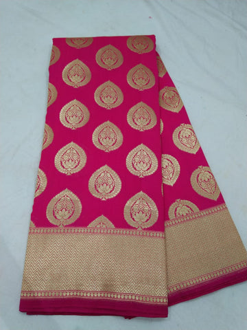 New Red Banarasi Silk Indian Dress Latest Sarees Online Shopping
