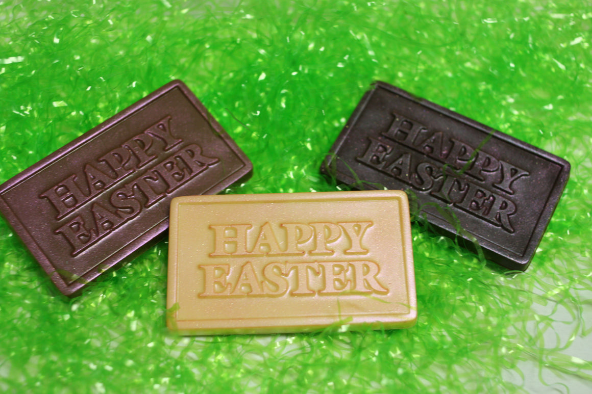 Solid! Chocolate Happy Easter Bar  - Dark, Milk or White