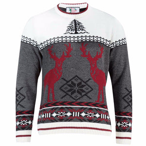 Red Deer - Mens Christmas Jumper - British Christmas Jumpers