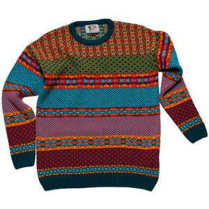 Boy's Cosmic Christmas Jumper Striped Sweater