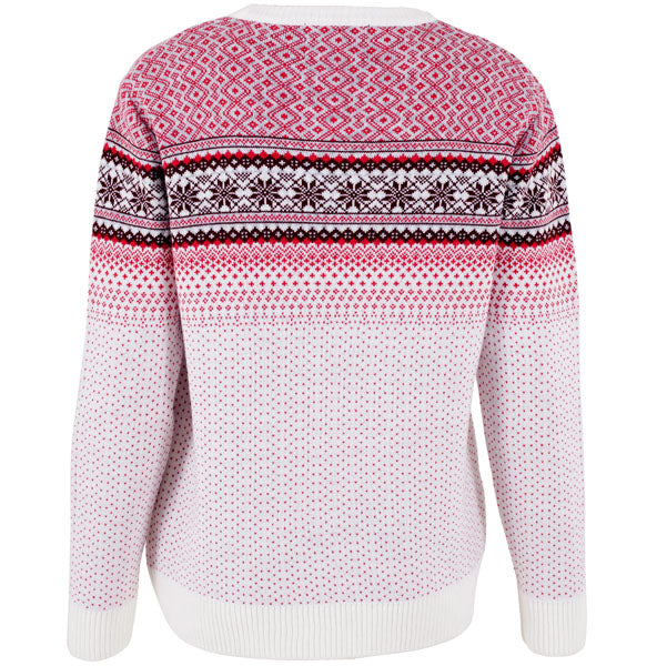 Pink Classic Fine Knit Fairisle - Womens Christmas Jumper - British Christmas Jumpers