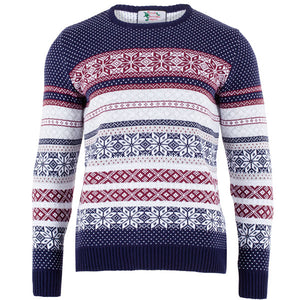 Navy Classic Fairisle - Mens Christmas Jumper - British Christmas Jumpers