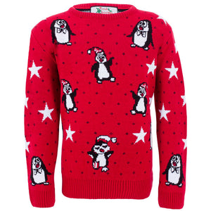 Girls - Penguin Christmas Jumper - British Christmas Jumpers