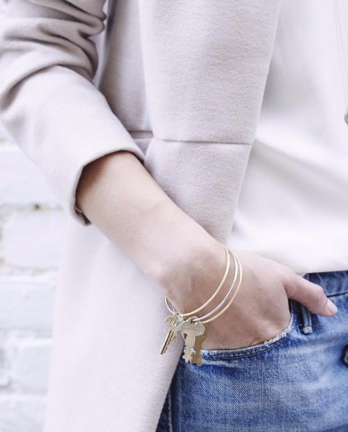 Dainty Key Bangle Bracelet Bracelets The Giving Keys