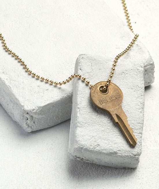 Classic Ball Chain Key Necklace Necklaces The Giving Keys