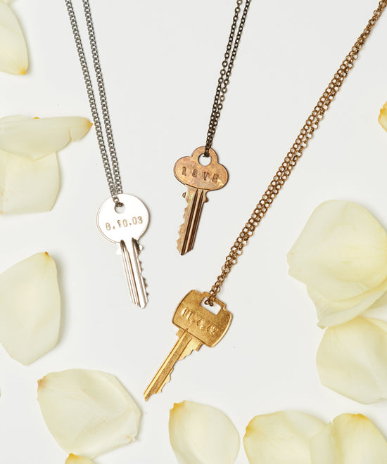 Date to Remember Classic Key Necklace Necklaces The Giving Keys
