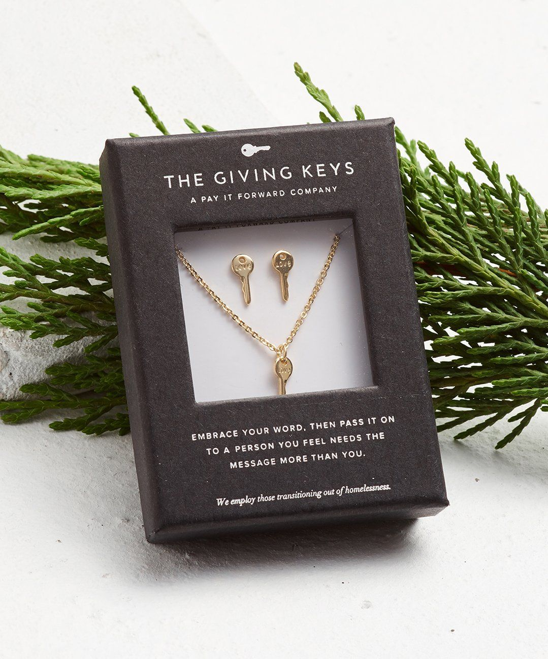 Mini Key Gift Set Necklaces The Giving Keys LOVE Gold