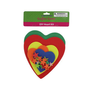 Do-it-yourself foam heart craft kit-Package Quantity,48