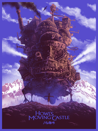 """Howl's Moving Castle"" by Marko Manev - Hero Complex Gallery"